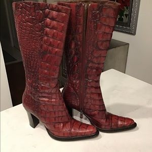 Vintage Donald Pliner Alligator boots